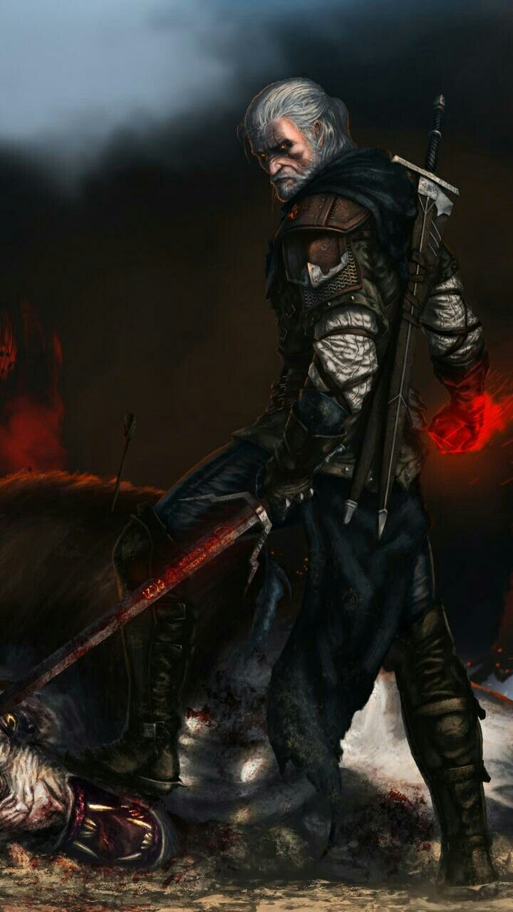 Geralt de Rivia wallpapers Witcher in 2019 The witcher geralt 720x1280