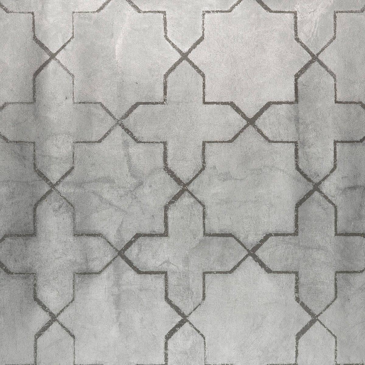 Phillip Jeffries Marrakesh Metal Platinum Palace Wallpaper GV236 1200x1200