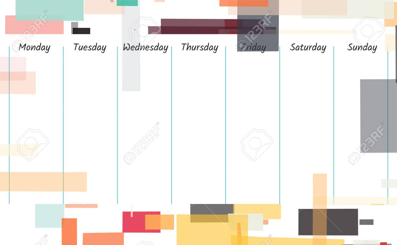 Planner Template Design Weekly Memo Background Illustration 1300x801