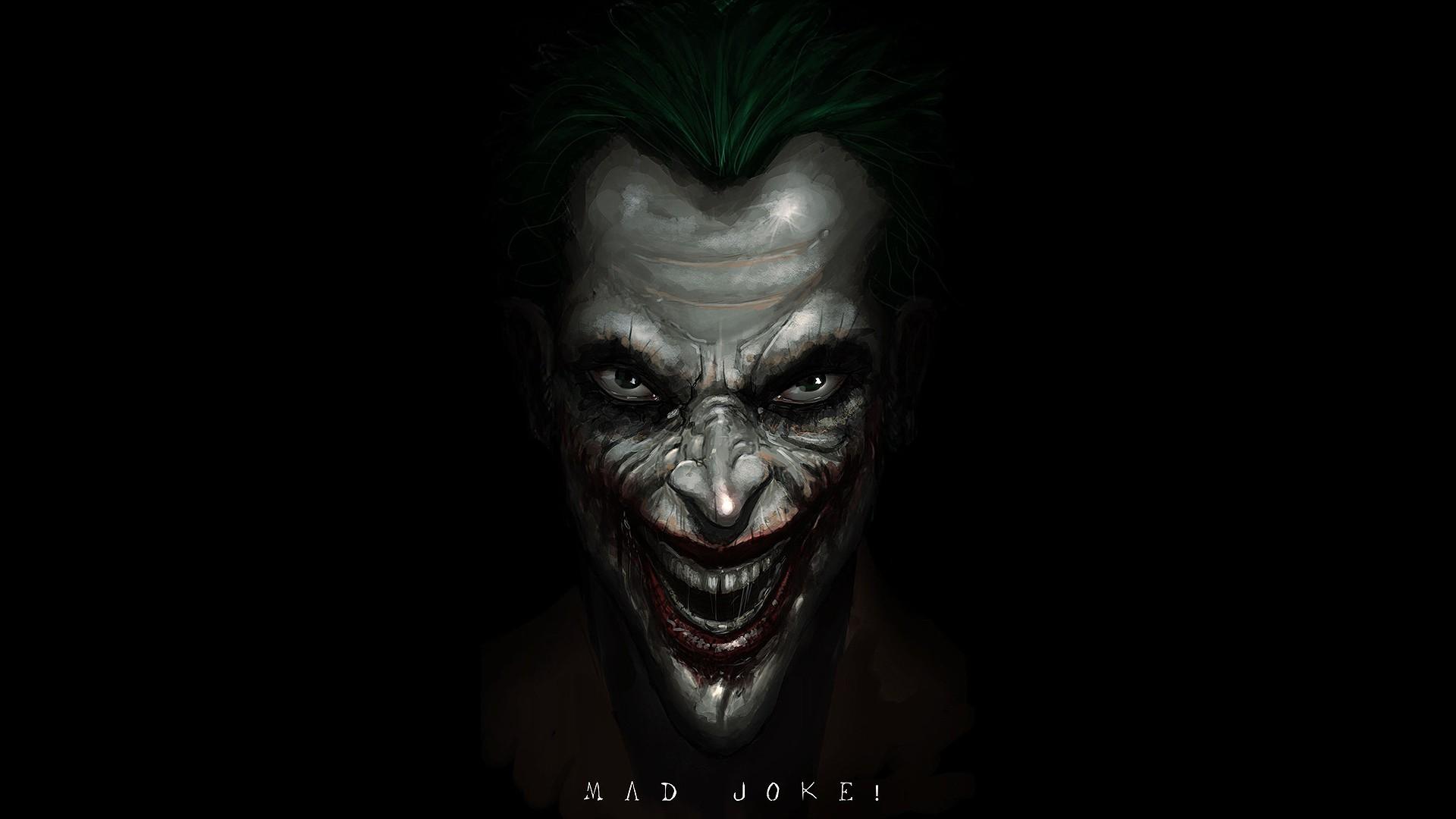 DC Comics The Joker fan art black background Wallpapers 1920x1080