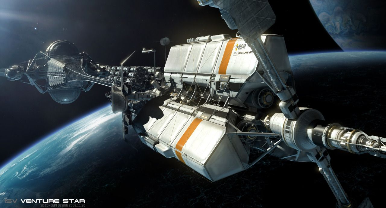 The ISV Venture Star an RDA shuttle that is nearly a mile long 1280x692