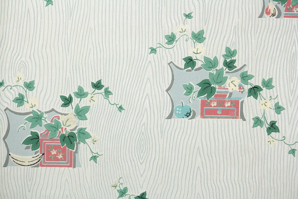 1950s Kitchen Vintage Wallpaper Hannahs Treasures Vintage 1024x683