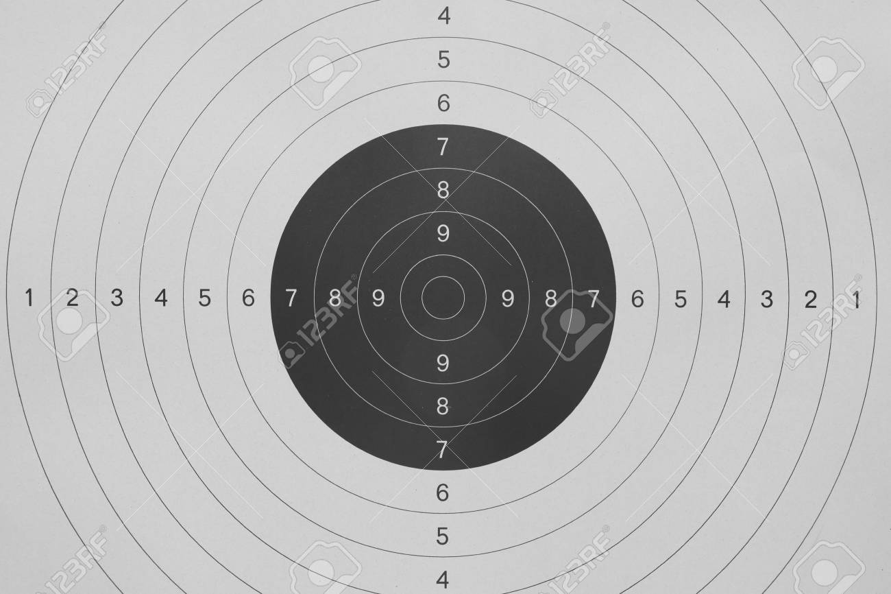 Background Of Gun Shooting Paper Target Stock Photo Picture And 1300x866