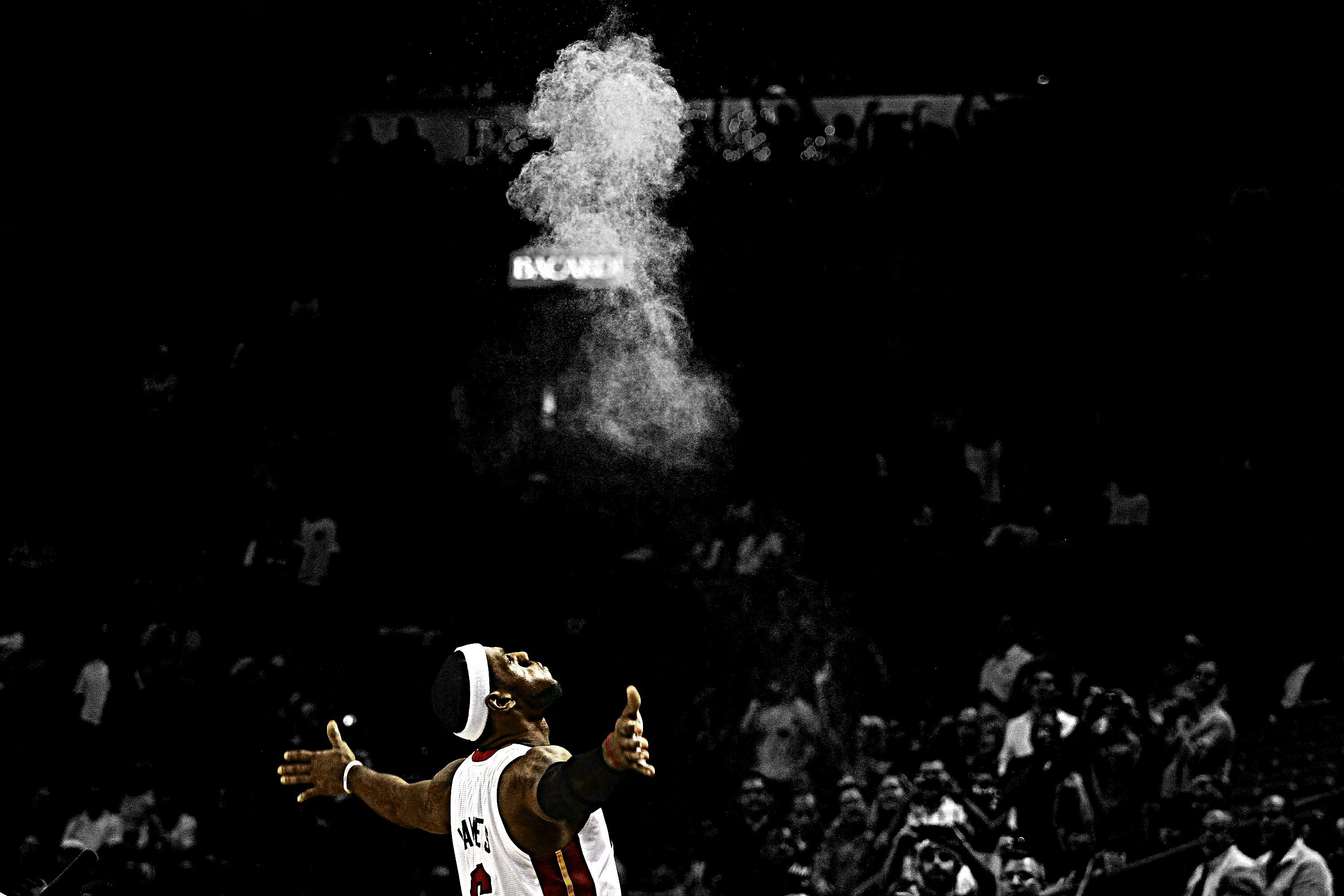 LeBron James Chalk Wallpaper by rhurst 3000x2000