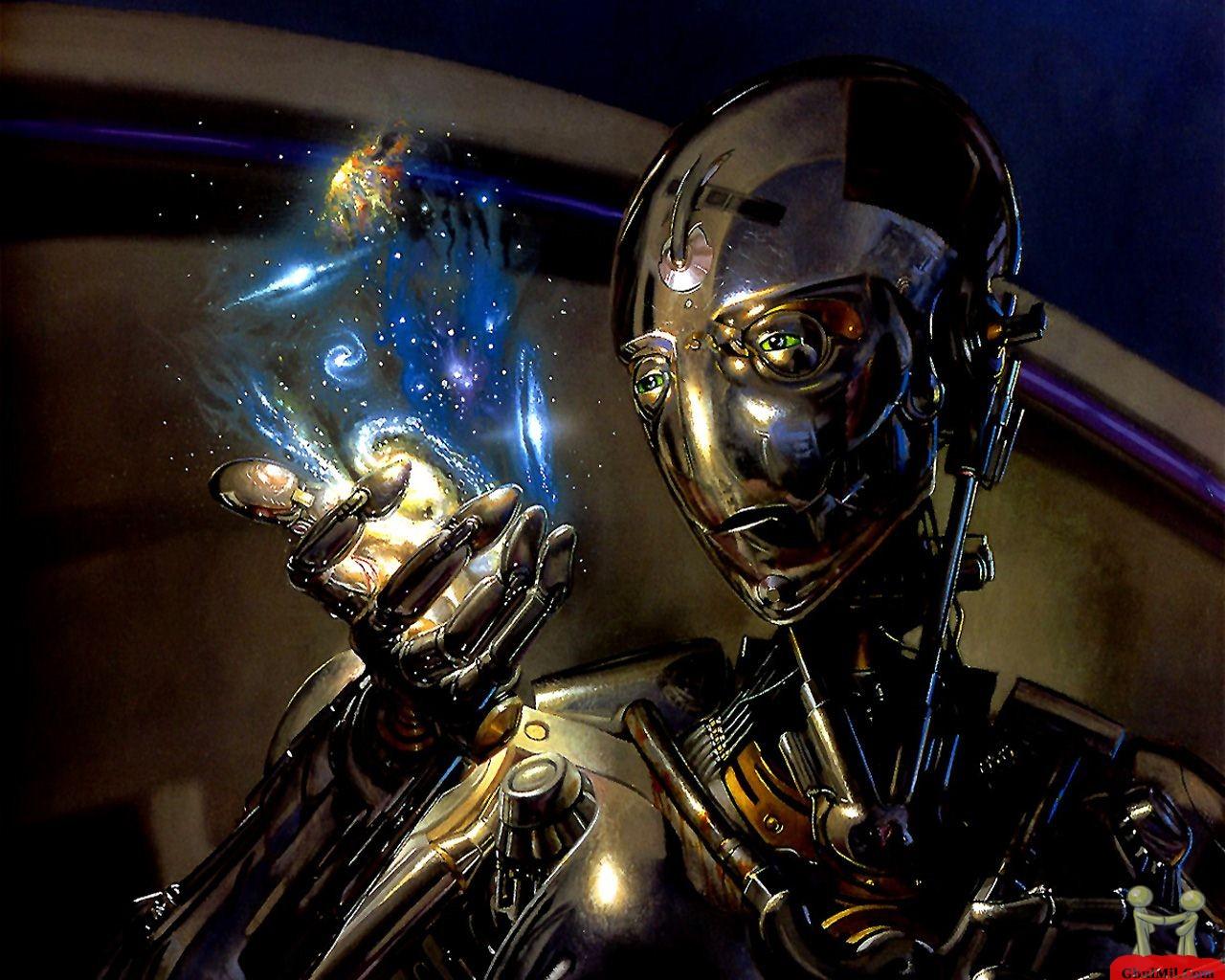 3D Robot With Blue Glass HD Wallpaper E Entertainment 1280x1024