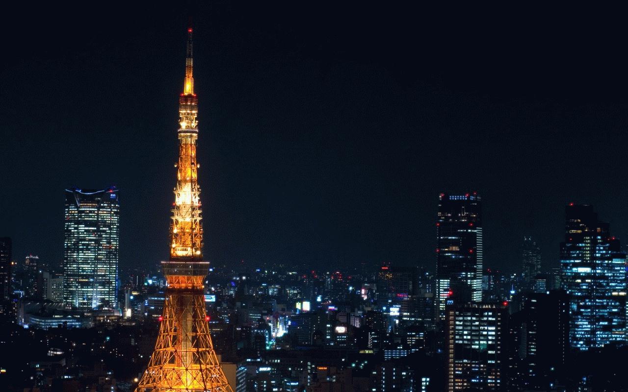 Tokyo Tower at Night 1280x800