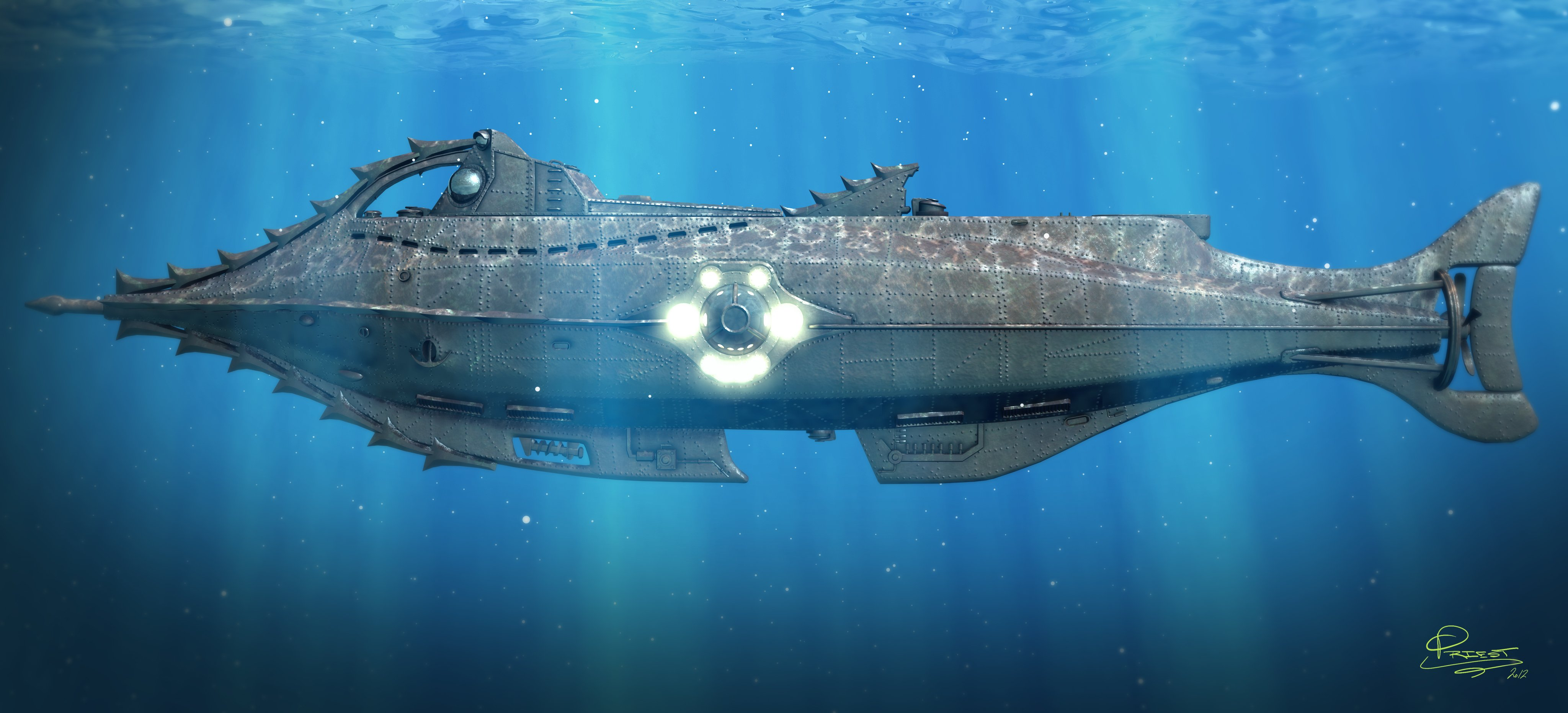 Disney Nautilus Submarine Wallpaper - 2763.4KB