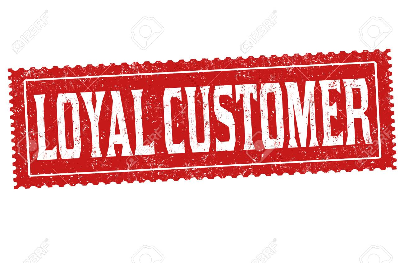 Loyal Customer Sign Or Stamp On White Background Vector 1300x845