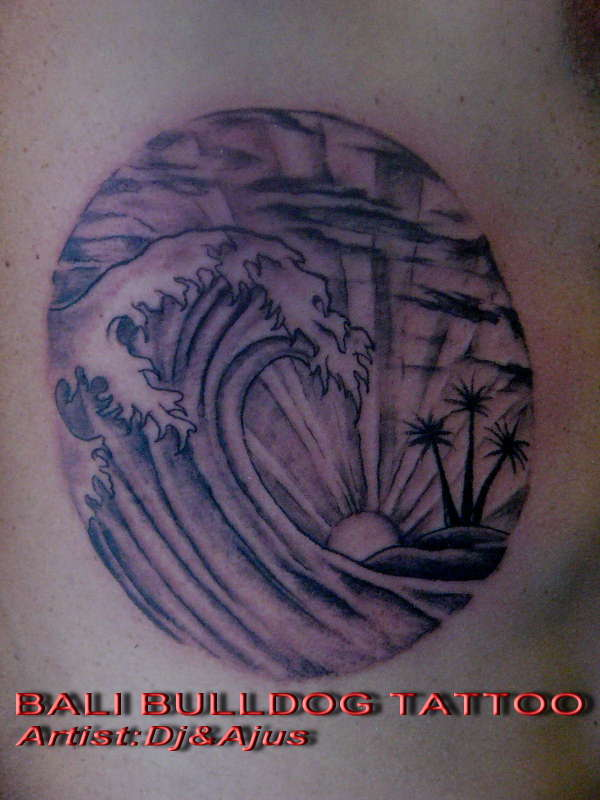 Japanese Waves Tattoo 600x800