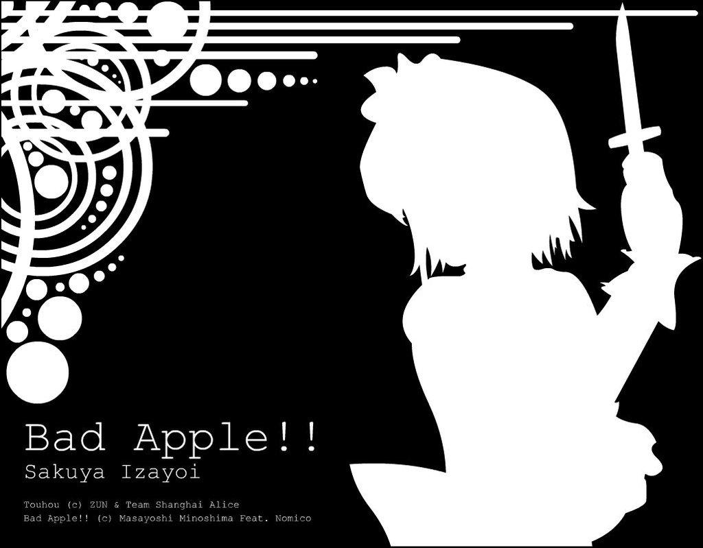 Sakuya Izayoi Bad Apple by adiyasa 1024x799