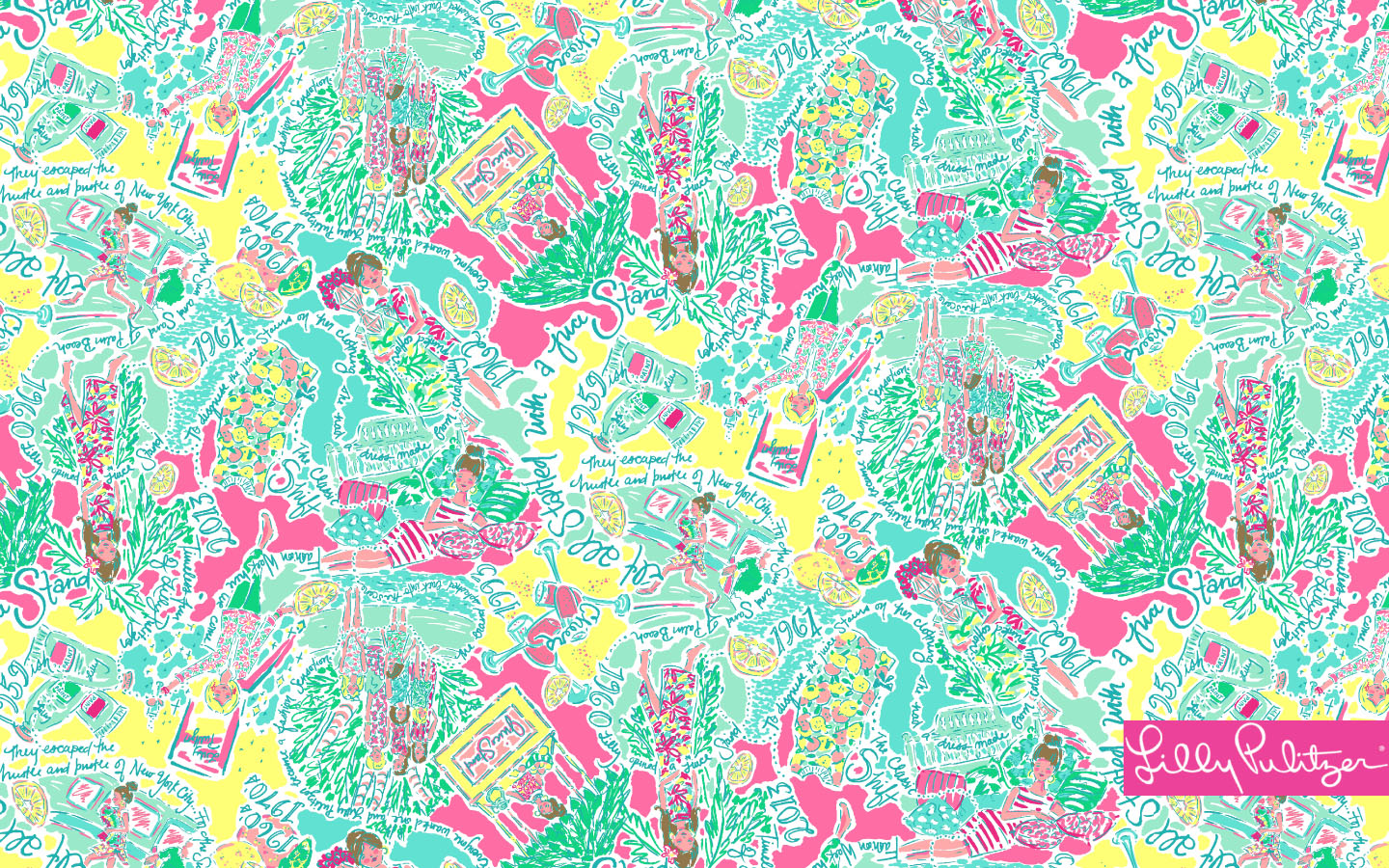 FREE Lilly Pulitzer Desktop Wallpapers Shopaholics Anonymous Blog 1440x900
