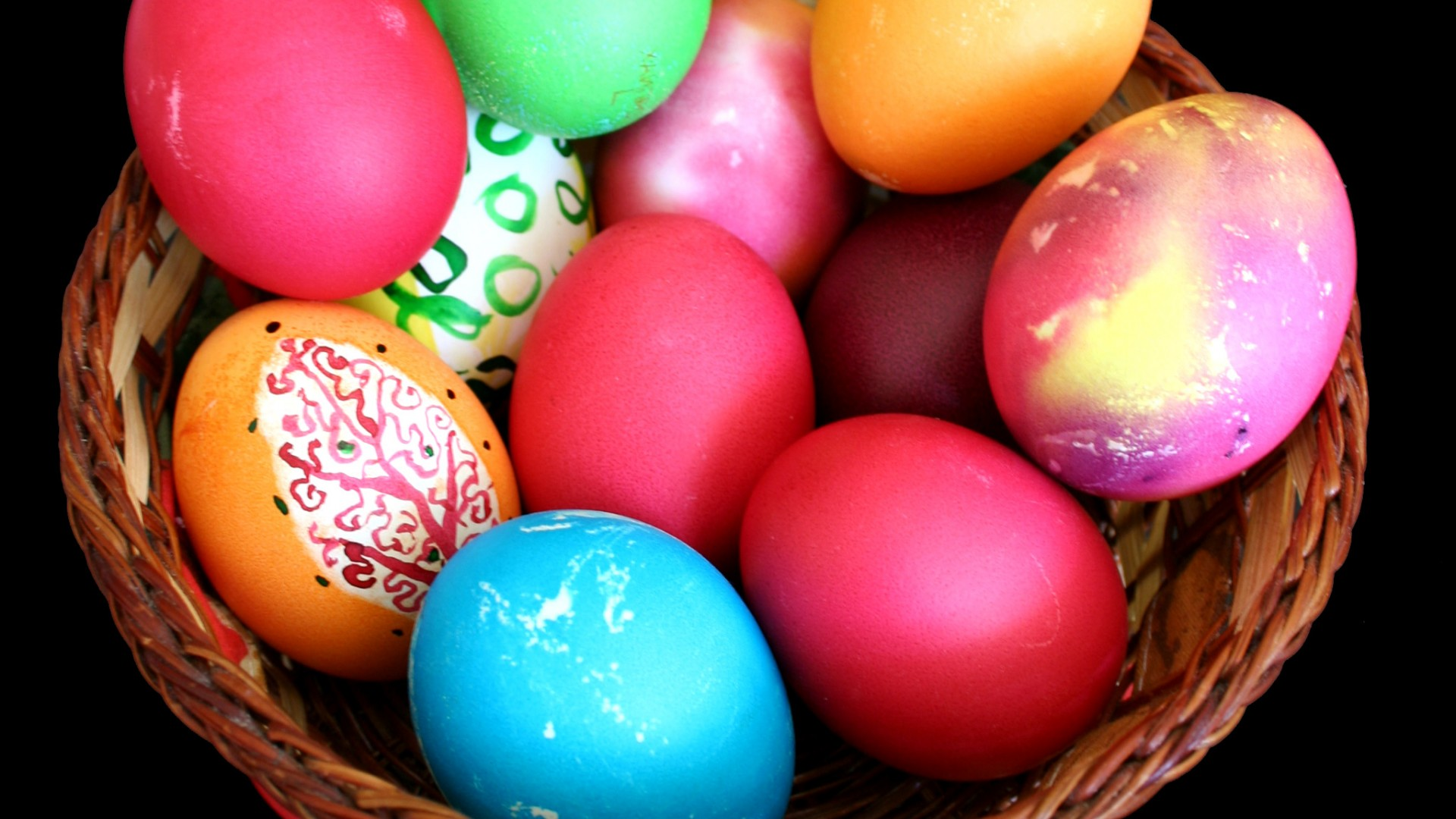 Easter Eggs in Basket Wallpaper   HD Wallpapers 1920x1080
