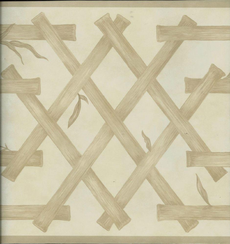 Waverly Tan Oriental Bambol Lattice Wallpaper Border eBay 940x1000
