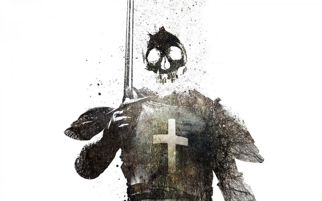 Knights simple background swords templar wallpaper 1440x900 1120x700