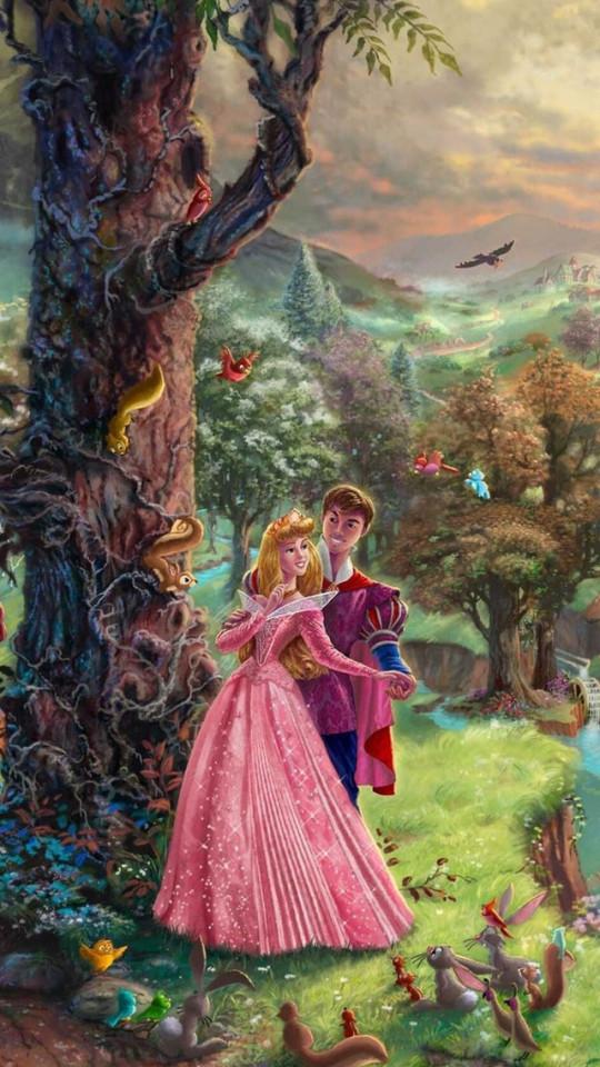 Thomas Kinkade Sleeping Beauty Wallpaper   iPhone Wallpapers 540x960