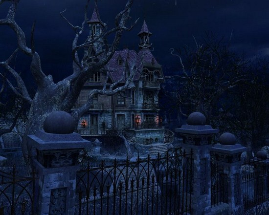 With The Haunted House 3d Screensaver Scary Yet Apps Directories 550x440