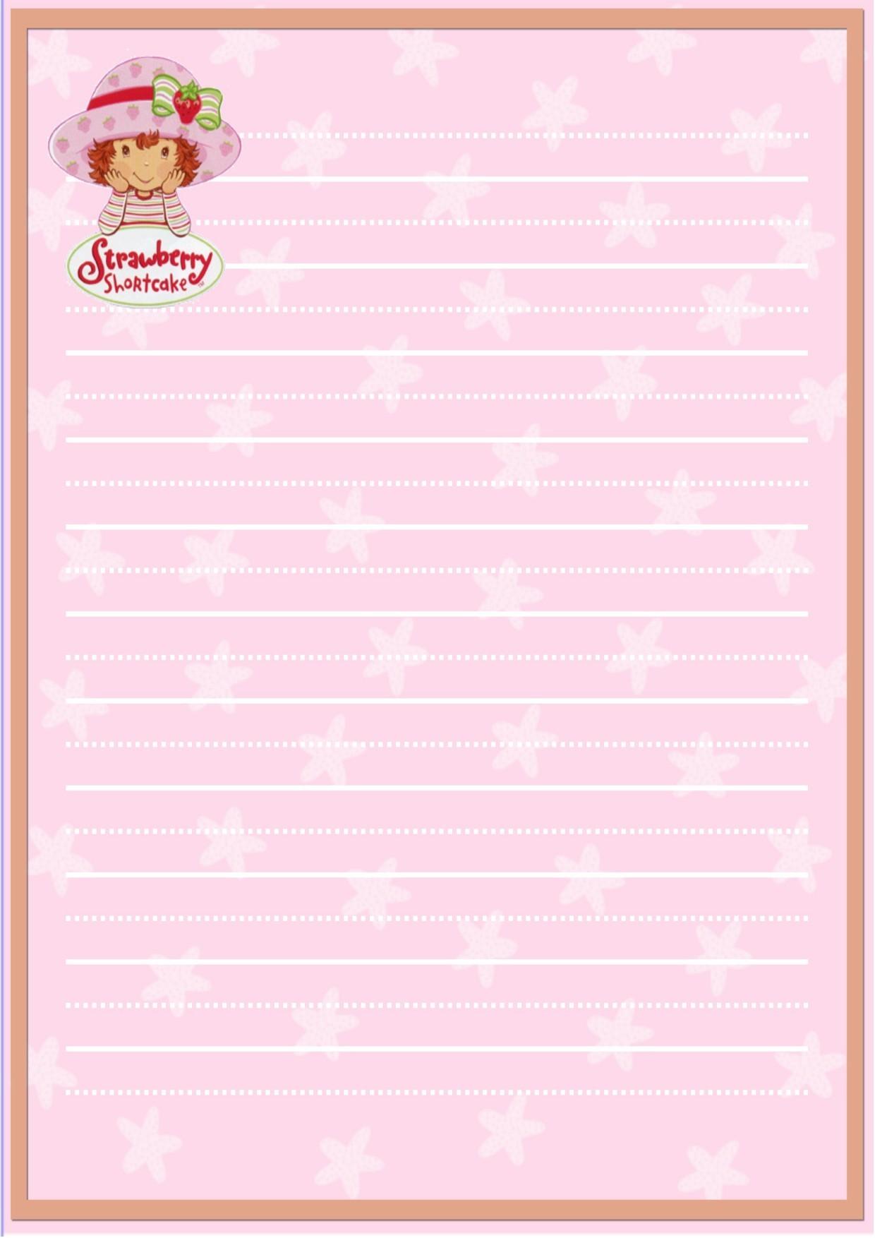 Strawberry Shortcake Stationery   Strawberry Shortcake Fan Art 1240x1754
