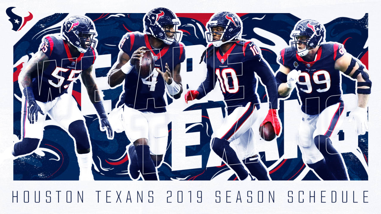 Texans announce 2019 schedule 1280x720