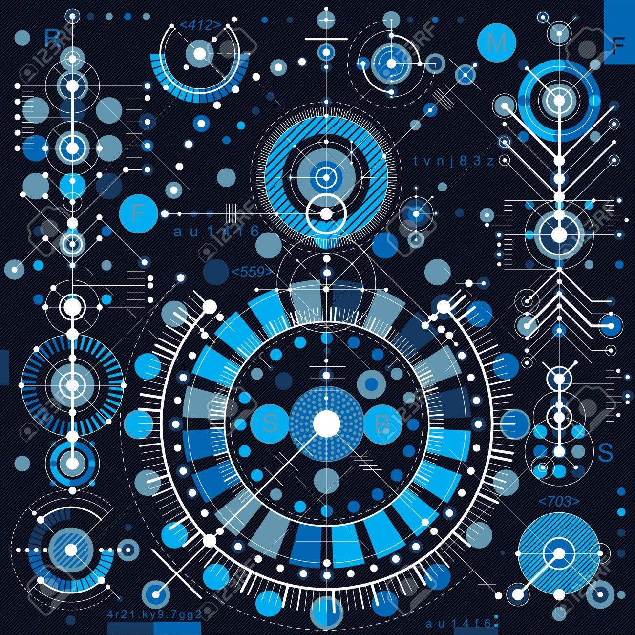 Future Technology Vector Drawing Industrial Wallpaper Graphic 1300x1300