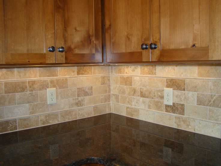 Backsplash Tile   subway travertine Kitchen Pinterest 736x552