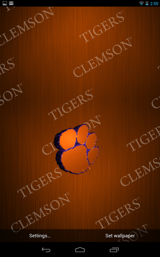 Clemson Live Wallpaper HD   Android Apps on Google Play 562x900