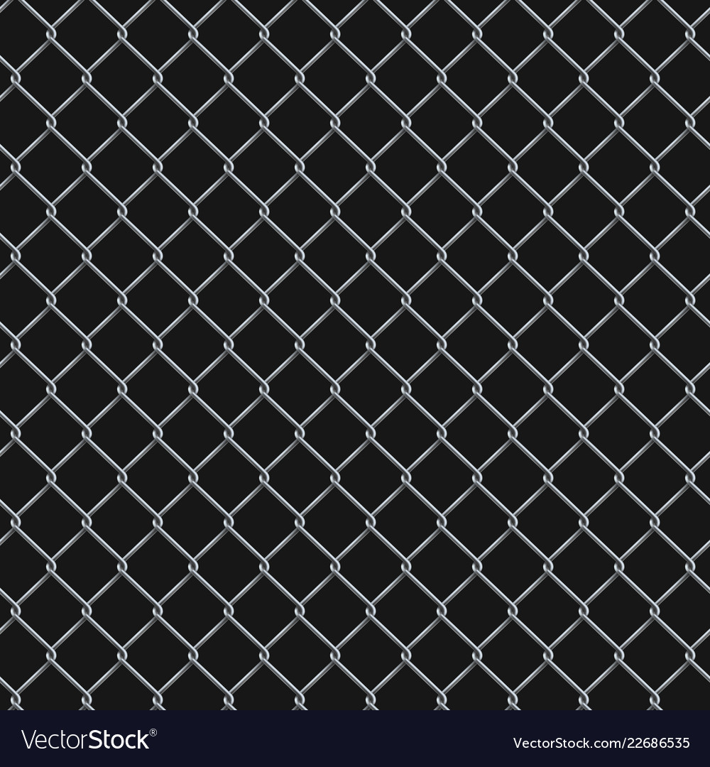 Seamless realistic chain link fence background on Vector Image 1000x1080