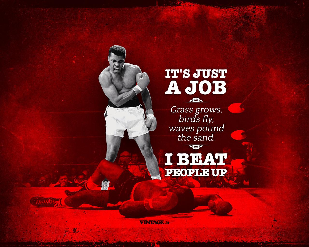 Muhammad Ali its just a job wallpaper   Desktop HD 1280x1024