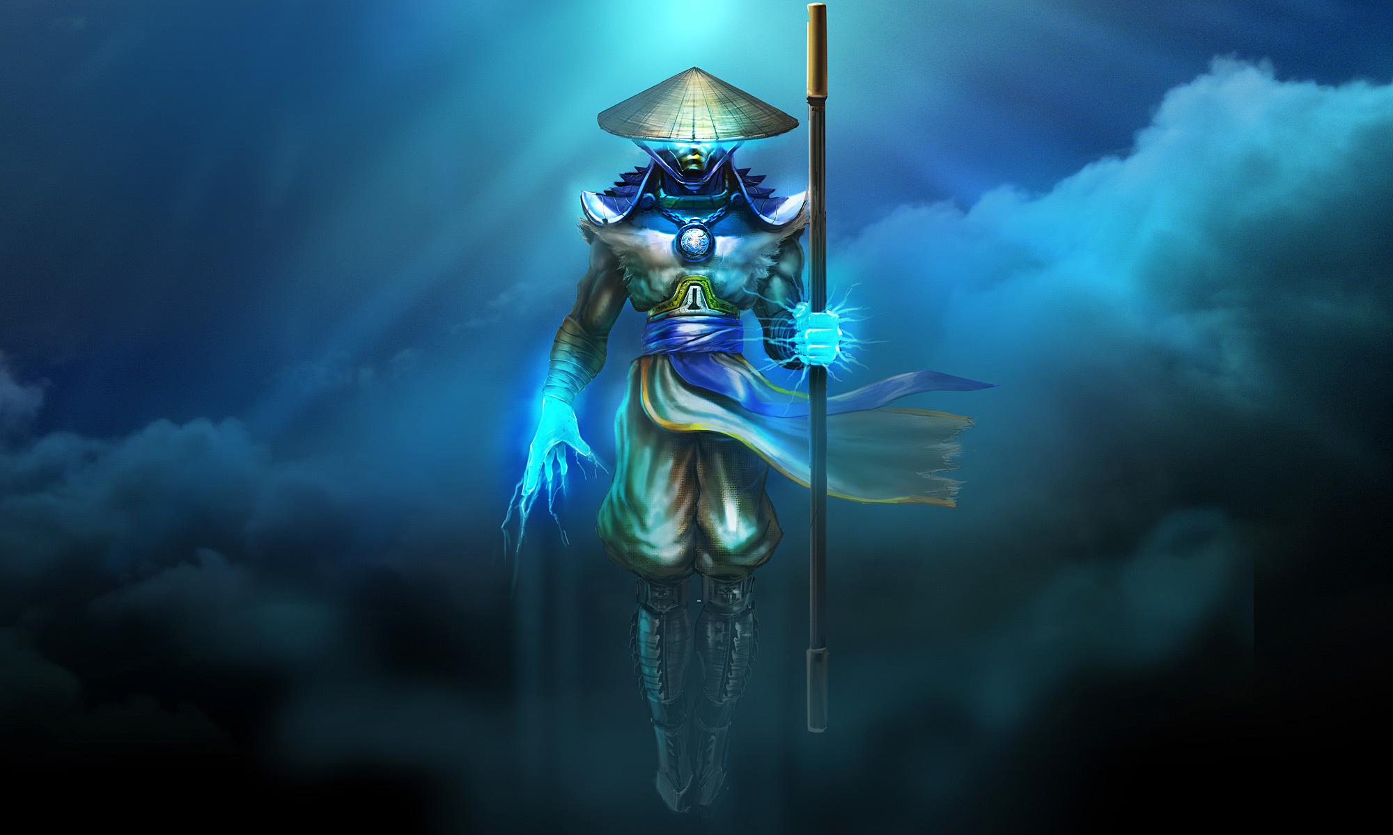 Mortal Kombat Warriors Raiden Games warrior fantasy magic wallpaper 2000x1200
