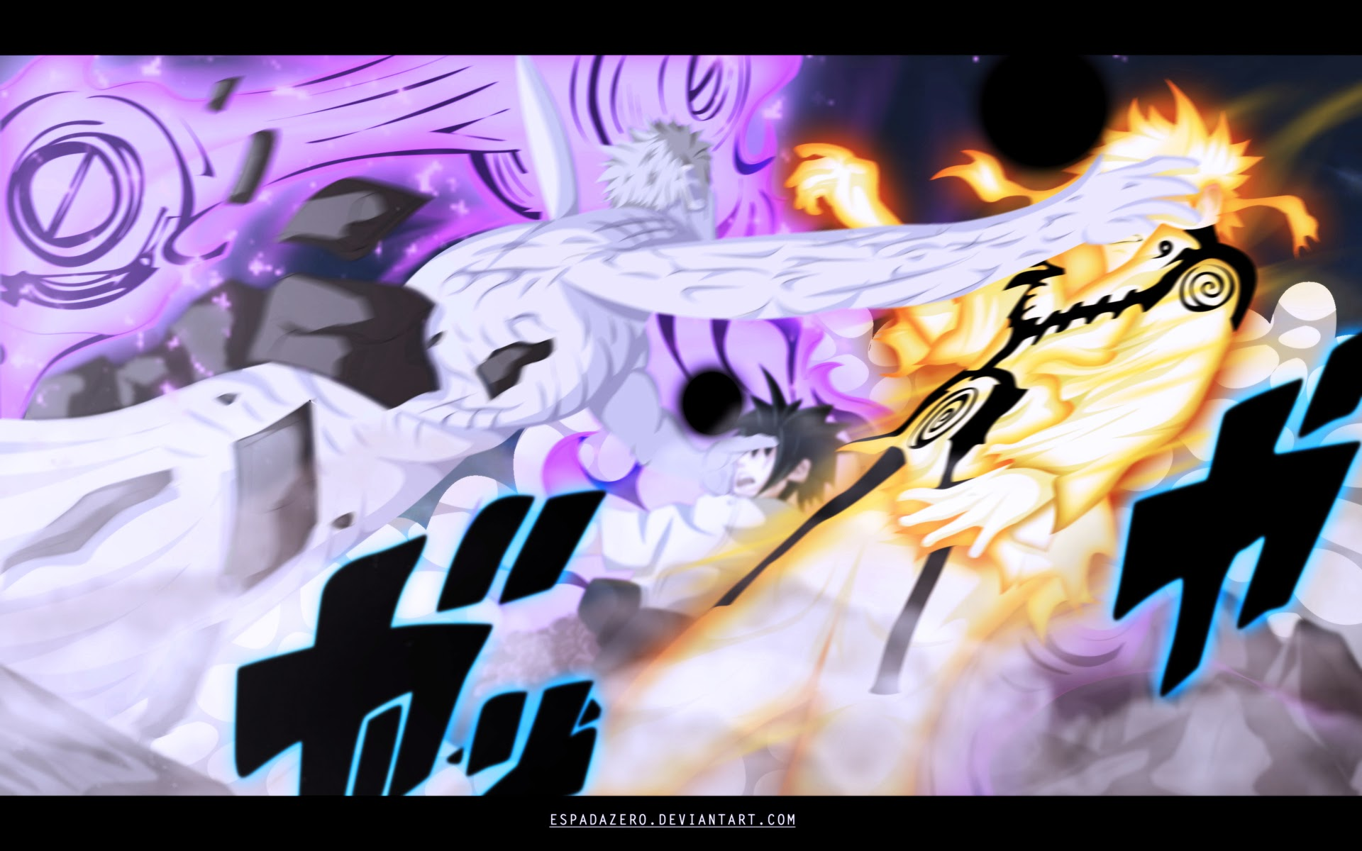 Free Download Naruto And Naruto Vs Obito Hd Anime Wallpaper