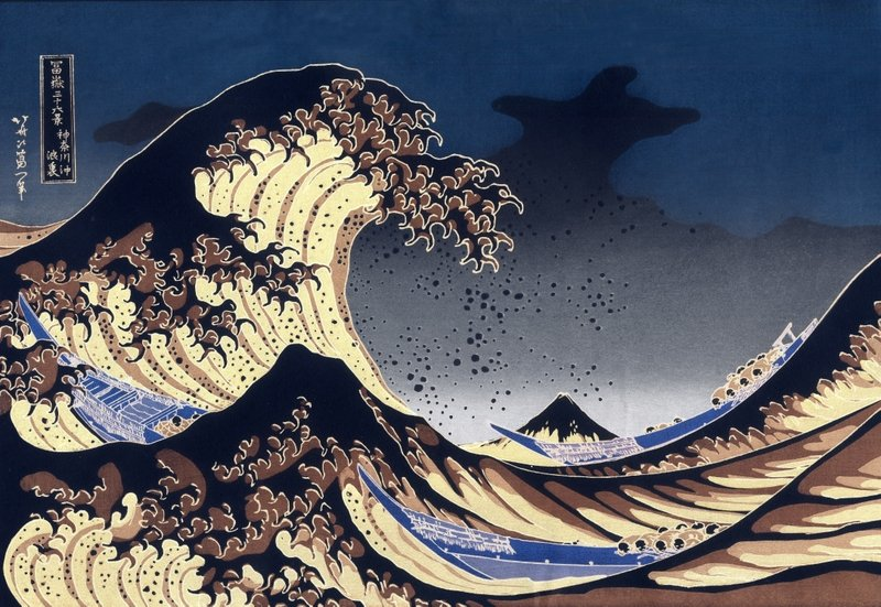 Japan,paintings japan paintings sea waves boats 4335x2990 wallpaper ...