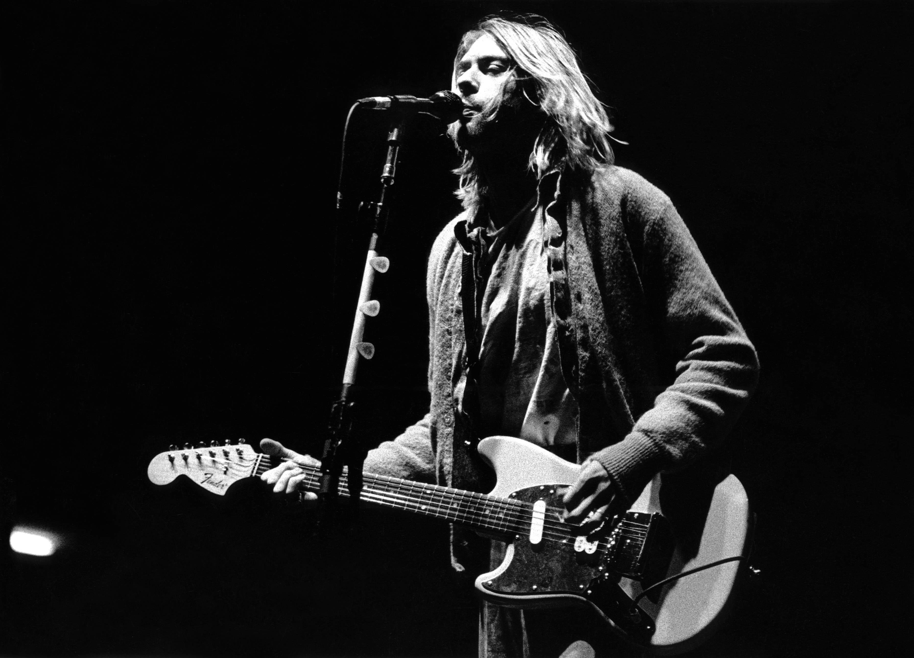 Kurt Cobain Backgrounds Wallpaper Guitare 3579x2577