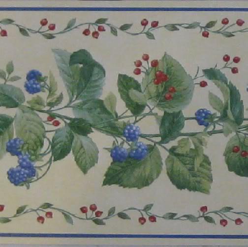 Berry Vine Wallpaper Border Wallpapersafari