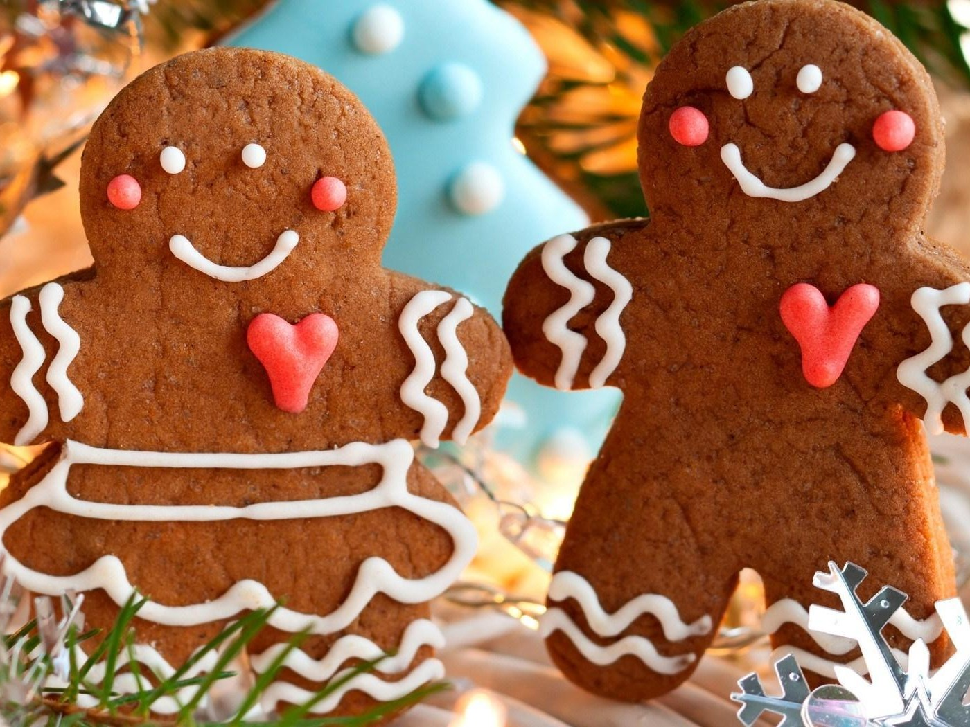 Cookies Figurines Baking Christmas Food Winter HD desktop 1400x1050