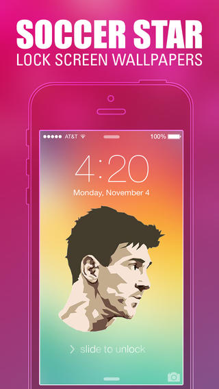 Pimp Your Wallpapers   Soccer All Star Special for iOS 7 on the App 320x568