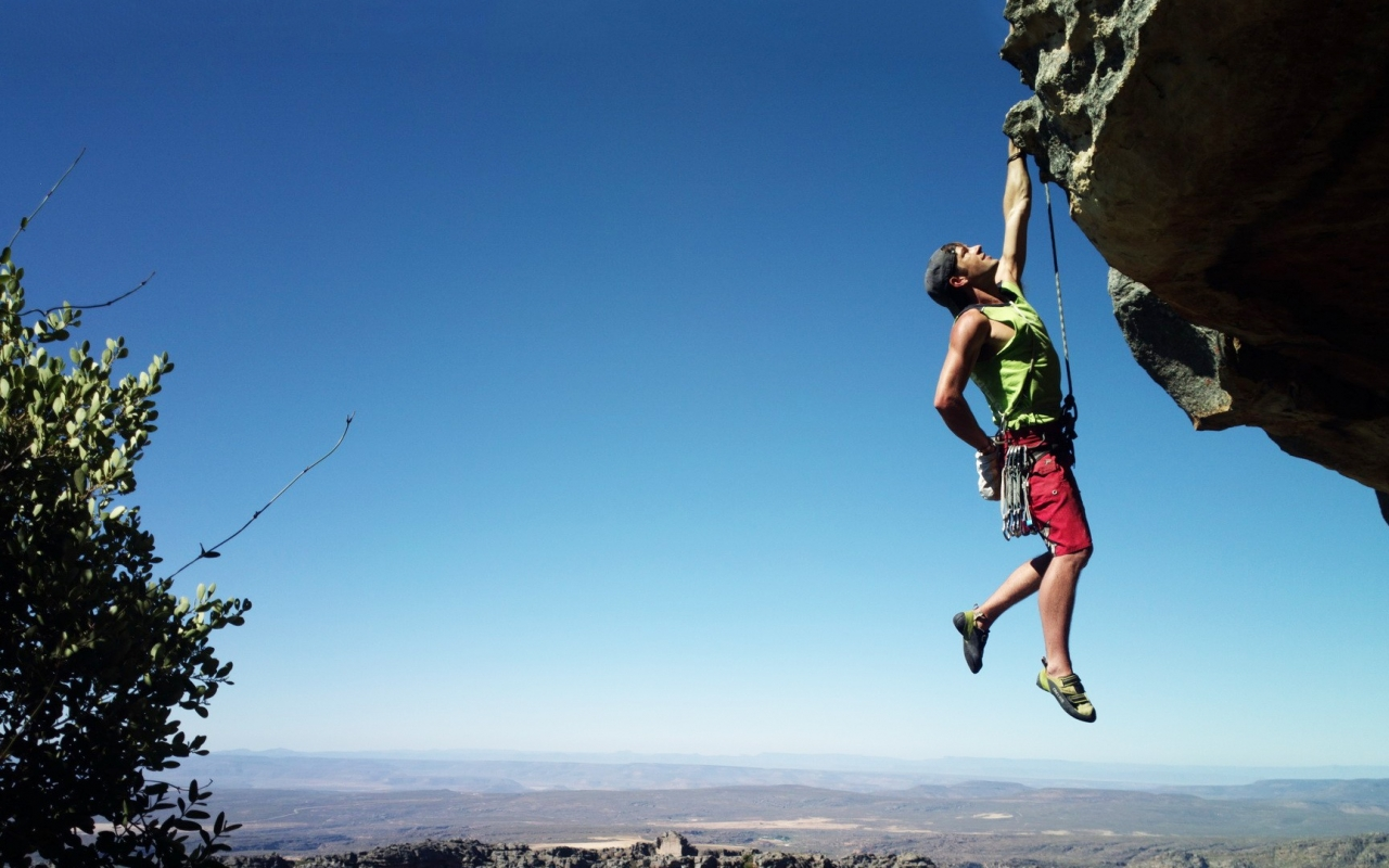 Extreme Rock Climbing Sport HD Desktop Wallpaper 1280x800