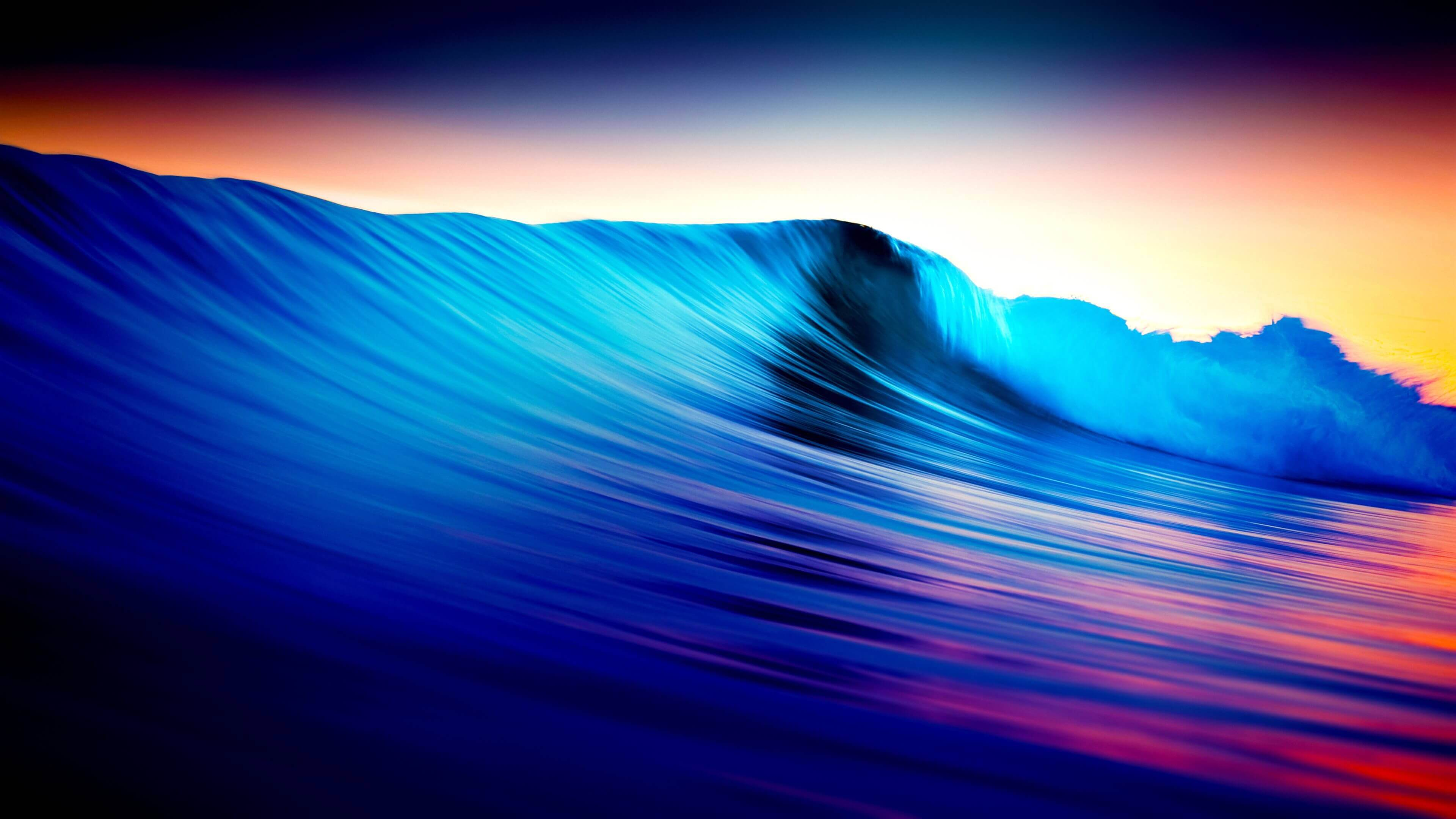 Colorful Rolling Waves 4K Wallpaper 3840x2160