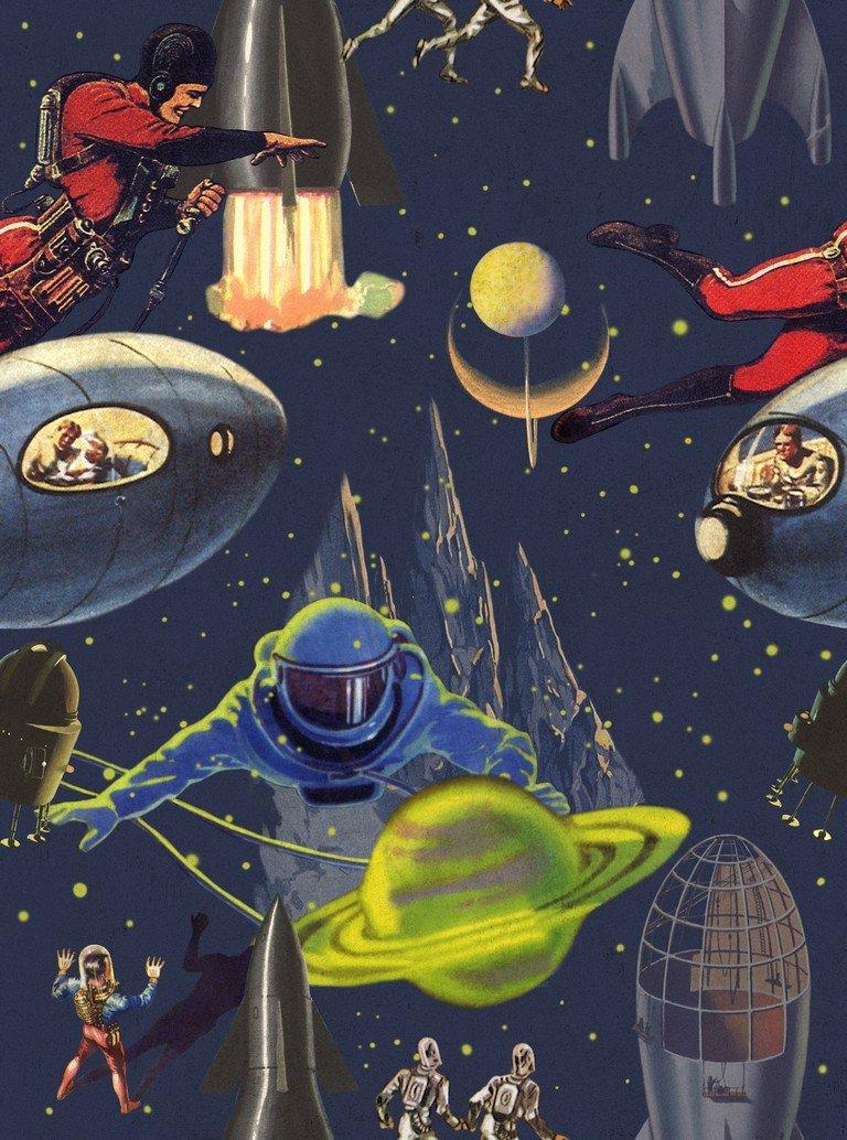 Intergalactic Wallpaper Mind The Gap Design Vintage 768x1034