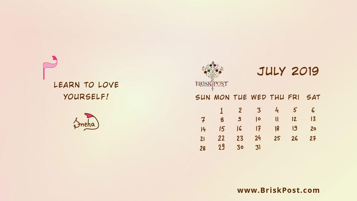 July 2019 Calendar 1200x675