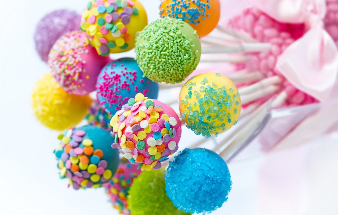 Wallpaper colorful candy lollipops sweet candy images for 1332x850
