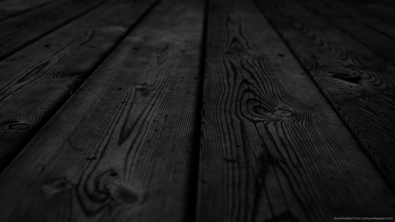 Download 1366x768 Dark Wooden Planks Wallpaper 1366x768