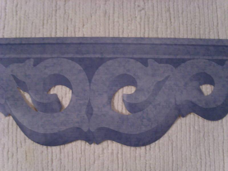 Rolls 42ft Diecut Crown Molding Wallpaper Border eBay 800x600