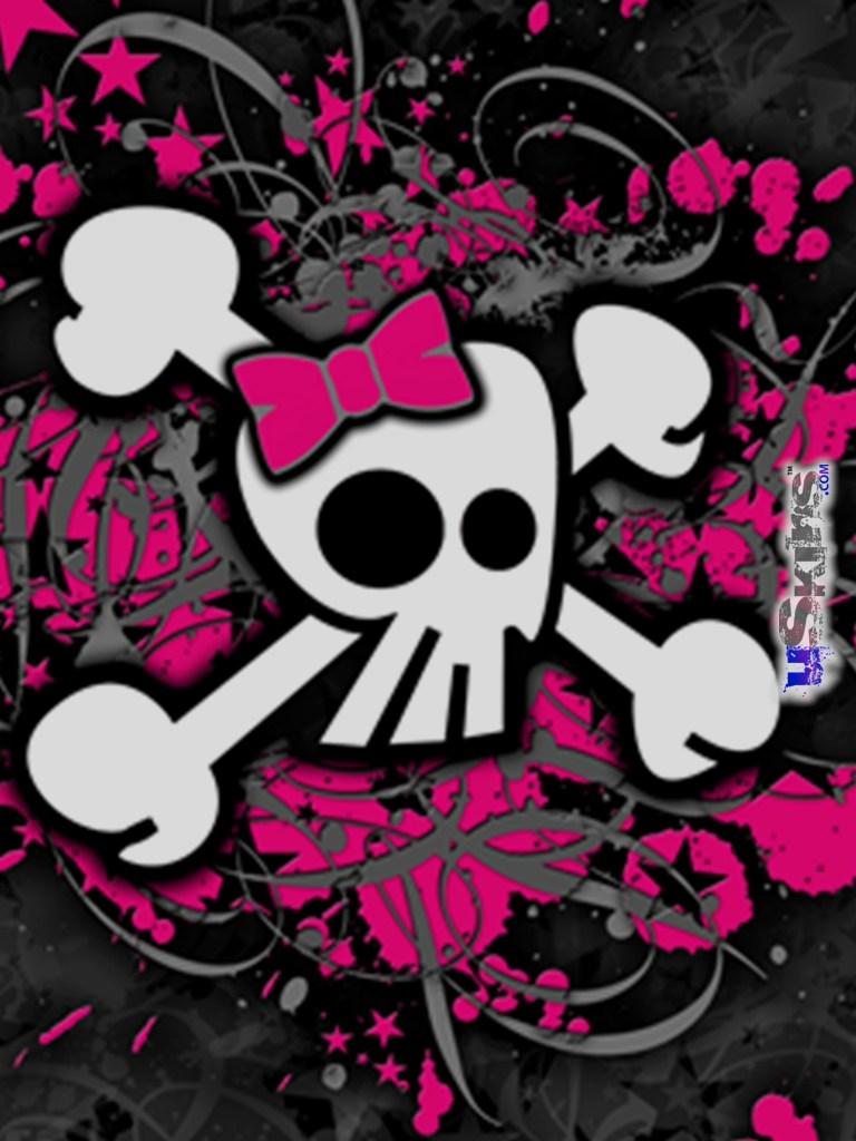 girly skulls ipad wallpaper ipad backgrounds ipad Car Pictures 768x1024