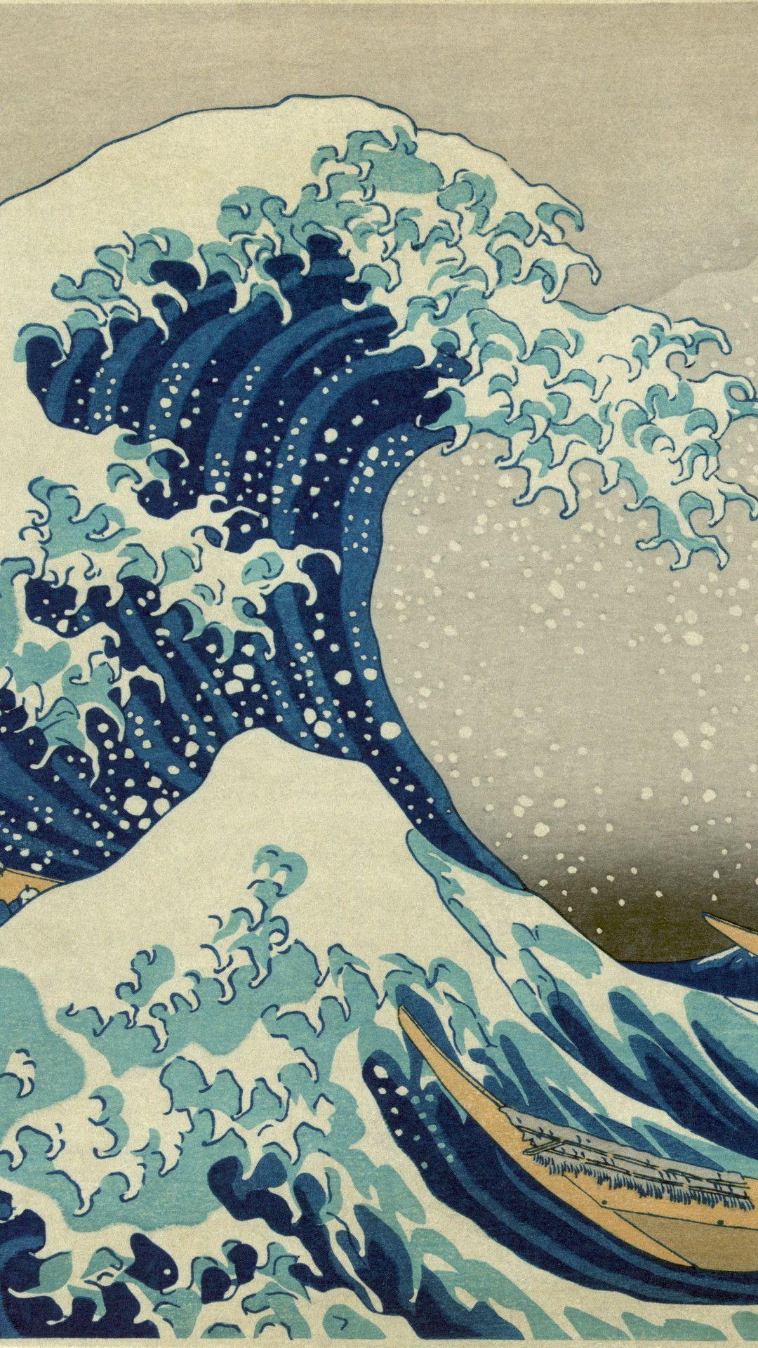 Katsushika Hokusai Japan art iPhone wallpapers iPhone 1080x1920