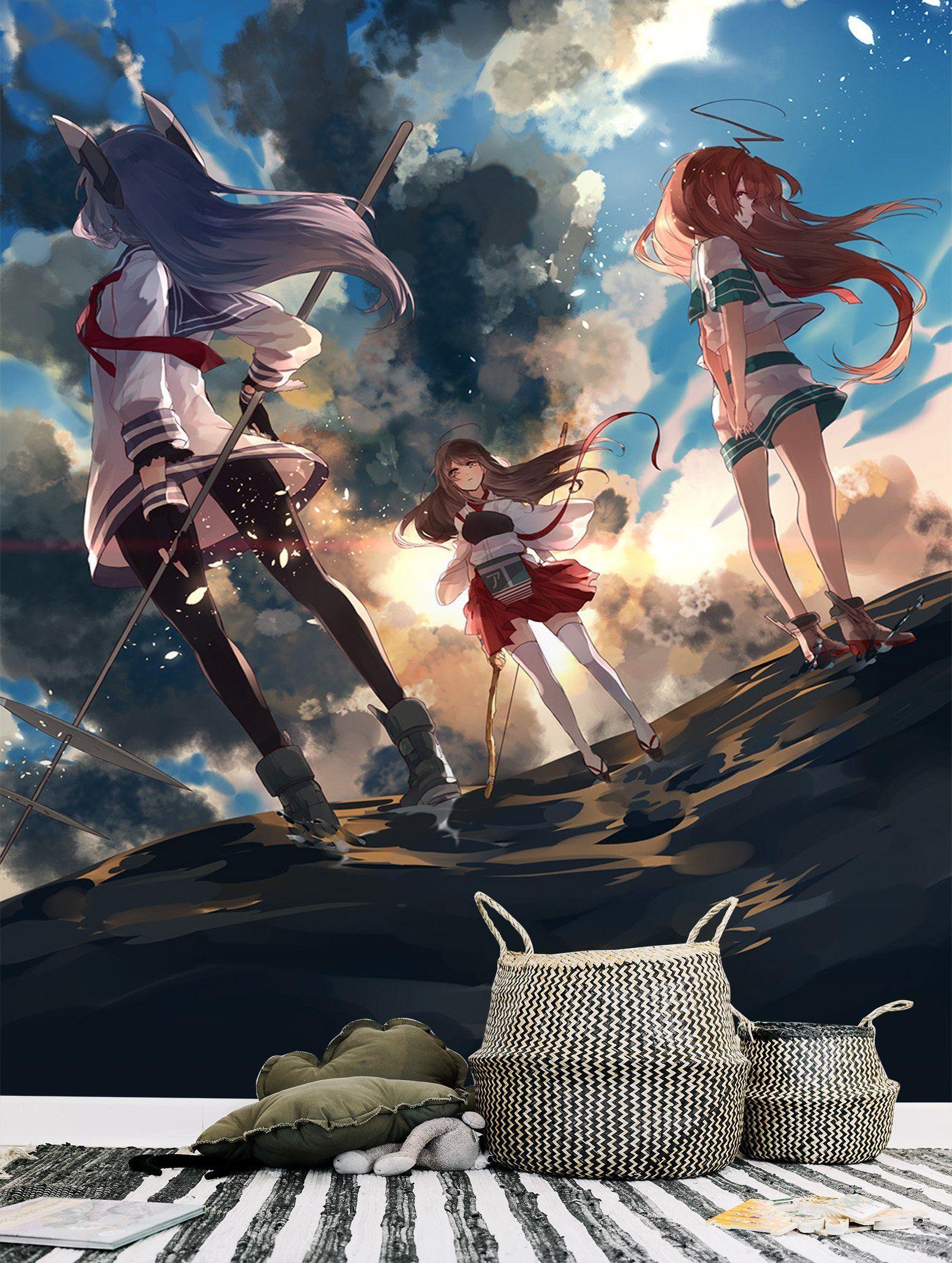 3D Kantai Collection 98 Anime Wall Murals in 2019 Kantai 1600x2123