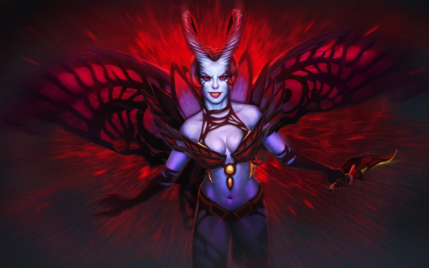 Queen of Pain computer wallpaper Wallpapers Dota 2 private 1680x1050