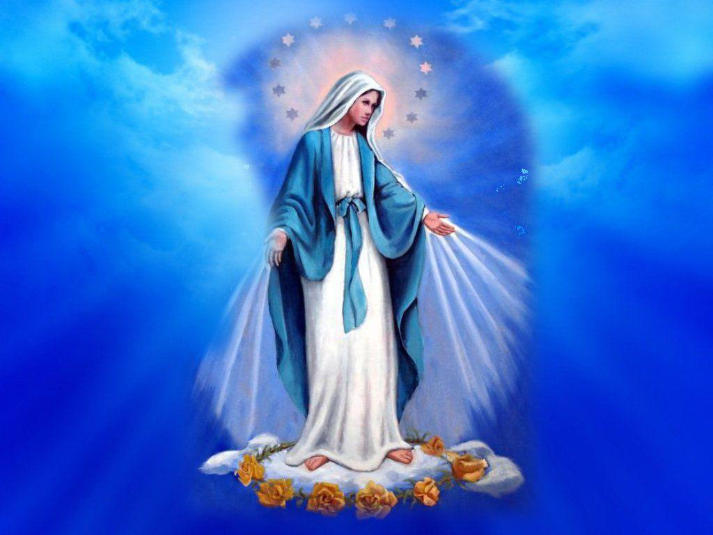 Jesus Christ Mother Mary Wallpapers 1024x768