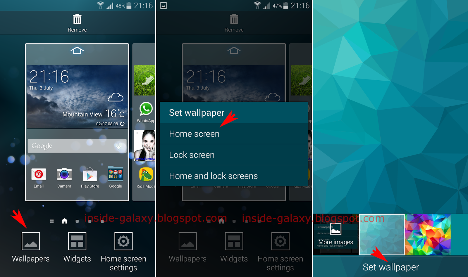 How to change Home screen wallpaper 1600x948