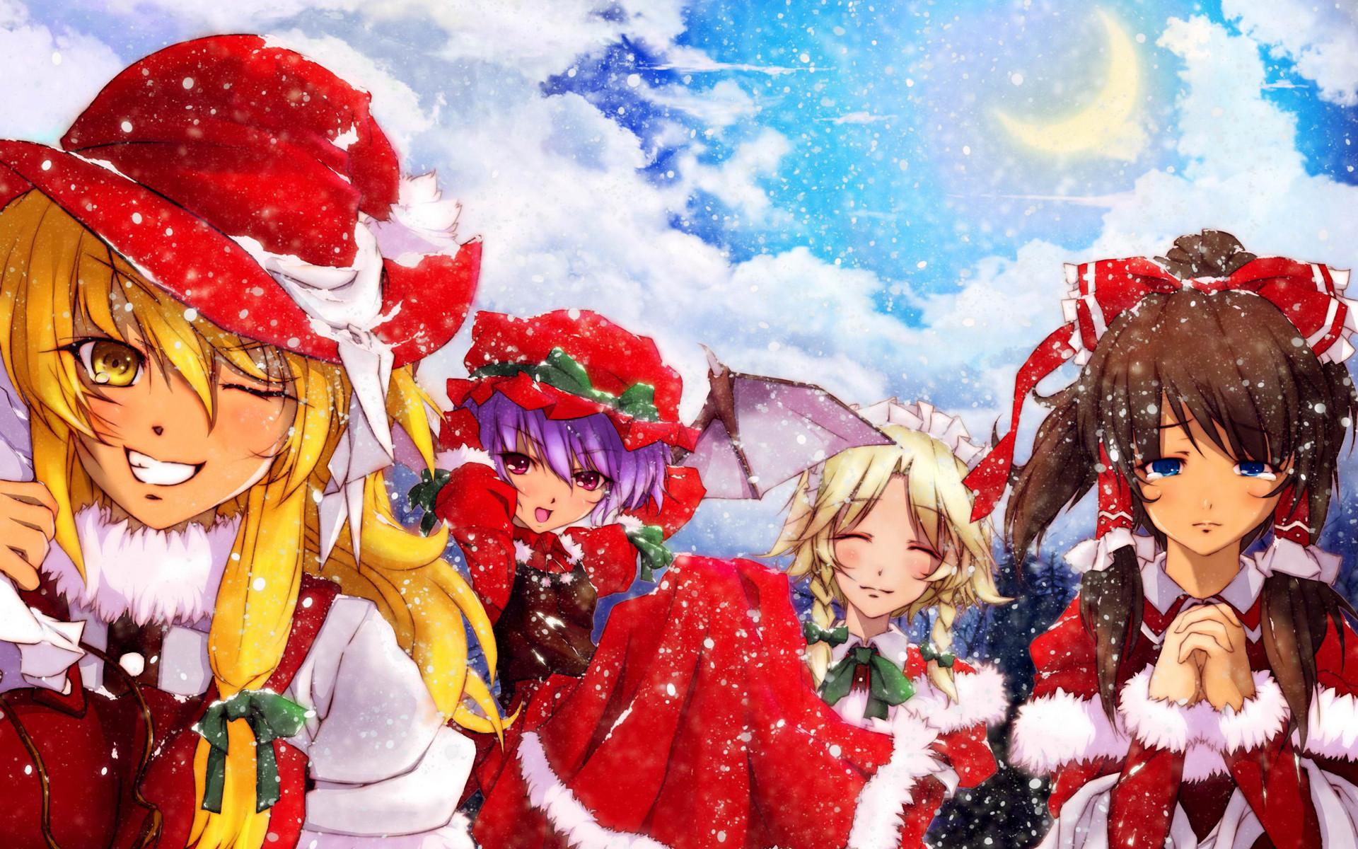 Anime Christmas Wallpaper.44 Anime Christmas Wallpaper Hd On Wallpapersafari