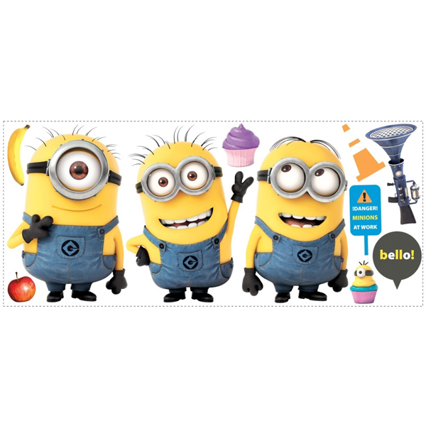 Despicable Me 2 Minions Giant Wall Decals at Birthday Direct 600x600
