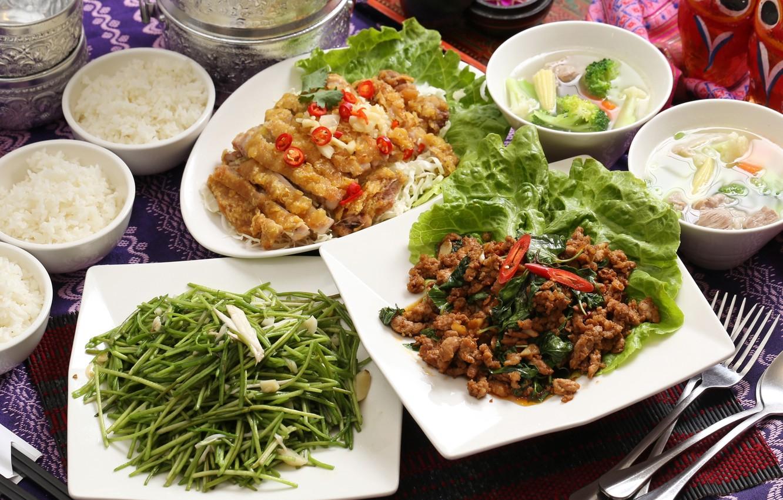 Wallpaper soup meat figure vegetables salad meals cuts 1332x850